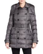 Burberry Brit Shredale Belted Puffer Coat - Lyst