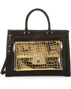 Milly Sienna Python  Croc-embossed Two-in-one Tote Bag - Lyst