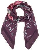 Dolce & Gabbana Floral-Print Silk Scarf - Lyst