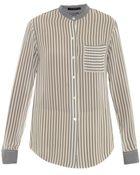 Theory Ziria Striped Silk Shirt - Lyst