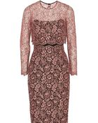 Lela Rose Lace Dress - Lyst