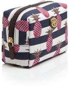 Tory Burch Striped Pineapple Nylon Cosmetic Case - Lyst