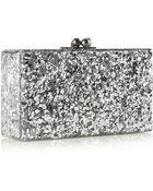 Edie Parker Jean Glittered Acrylic Box Clutch - Lyst