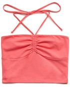 Forever 21 Ruched Halter Top - Lyst