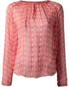 Etoile Isabel Marant Printed Blouse - Lyst