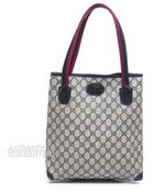 Gucci Pre-owned Navy Monogram Canvas Vintage Tote Bag - Lyst