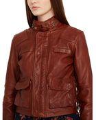 Ralph Lauren Leather Moto Jacket - Lyst