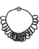 Jozica Beaded Bib Necklace - Lyst