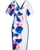Roland Mouret Redbay Printed Crepe Dress - Lyst