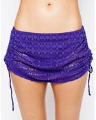 Freya Spirit Crochet Skirted Brief Bikini Bottom - Lyst