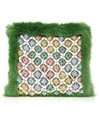 Shrimps Candy Clutch In Grass Green - Lyst