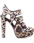 Chrissie Morris Delilah Leopard Platform - Lyst