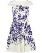 Karen Millen Floral Cotton Dress - Lyst