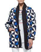 Etoile Isabel Marant Enid Geometric-Check Jacket - Lyst
