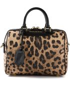 Dolce & Gabbana Medium Leopard Print Tote - Lyst
