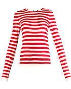 Dolce & Gabbana Striped Cashmere And Silk-Blend Sweater - Lyst