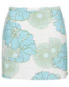 Topshop '60S Floral Print Pelmet Skirt - Lyst