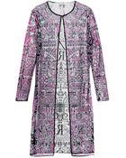 Mary Katrantzou Alphabet-Embellished Tulle Coat - Lyst
