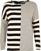 River Island Black Contrast Stripe Long Sleeve Top - Lyst