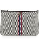 Tory Burch Jane Woven Leather Clutch Bag - Lyst