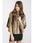 Forever 21 High-Collar Faux Fur Jacket - Lyst