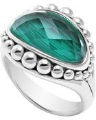 Lagos Silver Maya Malachite East-West Dome Ring - Lyst