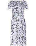 Tory Burch Edna Silk Stretch-Jersey Dress - Lyst