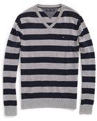 Tommy Hilfiger Classic V-Neck Stripe Sweater - Lyst