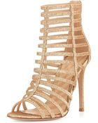 Gianvito Rossi Caged Glitter High-Heel Sandal - Lyst