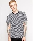 Fred Perry T-shirt with Fine Stripe - Lyst