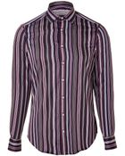 Etro Striped Cotton Button-Down - Lyst