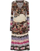 Etro Kneelength Dress - Lyst