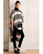 Mara Hoffman Printed Knit Fringe-Edge Poncho - Lyst