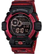 G-Shock Men'S Digital Red Camouflage Resin Strap Watch 55X53Mm Gls8900Cm-4 - Lyst
