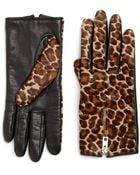 Rag & Bone Zippered Leopard-Print Calf Hair Gloves - Lyst