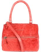 Givenchy Pandora Small Washed Leather Satchel Bag - Lyst