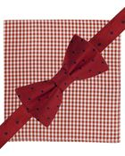 Tommy Hilfiger Dot Bow Tie & Gingham Pocket Square Set - Lyst