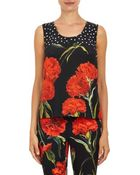 Dolce & Gabbana Polka Dot & Carnation Cady Shell - Lyst