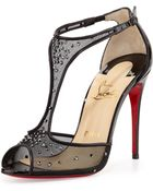 Christian Louboutin Patinana Strass Red Sole Sandal - Lyst
