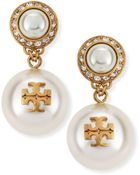 Tory Burch Selma Pearly Drop Earrings - Lyst