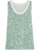 Diane von Furstenberg Emilia Sequined Silk Top - Lyst
