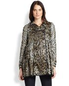 RED Valentino Leopard Heart-Print Trenchcoat - Lyst