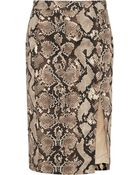 Altuzarra For Target Python-Print Stretch-Cotton Twill Pencil Skirt - Lyst