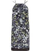 River Island Black Floral Print Cami Slip Dress - Lyst