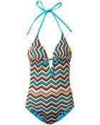 Missoni Mare Zigzag-Knit Swimsuit - Lyst