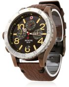 Nixon The 48-20 Chronograph Leather Watch - Lyst