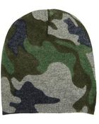 Autumn Cashmere Camo Bag Hat - Lyst