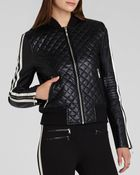 BCBGMAXAZRIA Bcbg Max Azria Jacket Morgan Quilted Faux Leather Bomber - Lyst