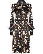 Givenchy Dress In Magnolia And Butterfly-Print Silk-Crepe - Lyst