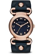 Marc By Marc Jacobs Molly Rose Goldtone Stainless Steel & Leather Studded Strap Watch/Black - Lyst